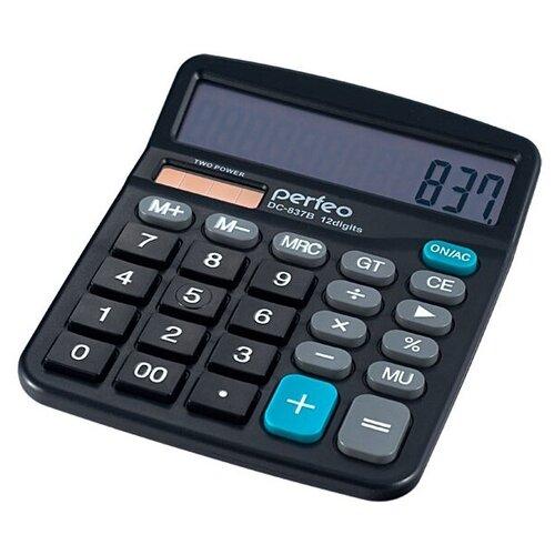 Калькулятор бухгалтерский Perfeo PF_3286 (DC-837B) черный