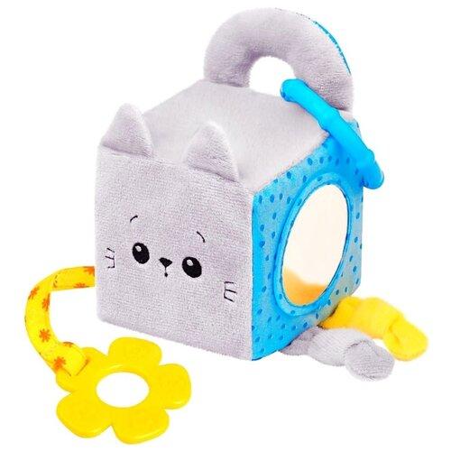 Подвесная игрушка Мякиши Котенок Кекс (629) серый/голубой развивающие игрушки мякиши пищалка котенок кекс