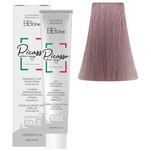 BB One Picasso Colour Range Перманентная крем-краска без аммиака, 100 мл, 9.16 светлый блонд жемчужно-розовый bb one picasso colour range перманентная крем краска без аммиака 100 мл 10 16 очень светлый блонд розовый жемчуг