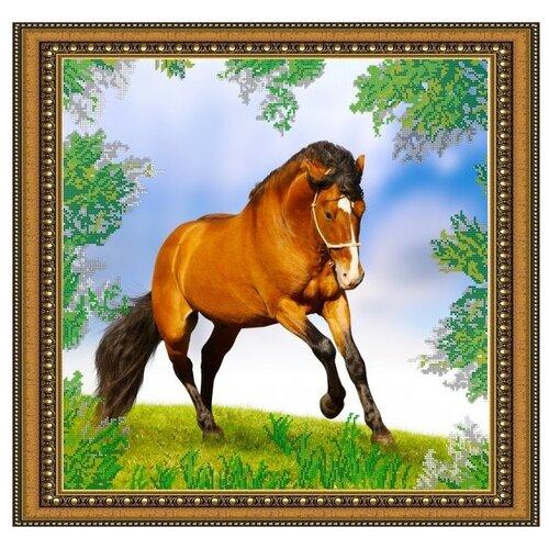 Светлица Набор для вышивания бисером Лошадь 45 х 43 см (125)