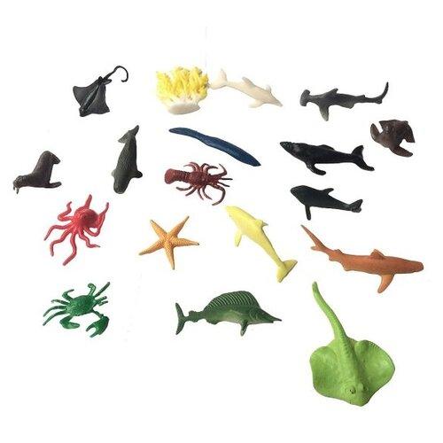 Купить Набор фигурок Морские животные, 18 шт., аксессуары, Наша Игрушка 635667, Наша игрушка, Игровые наборы и фигурки