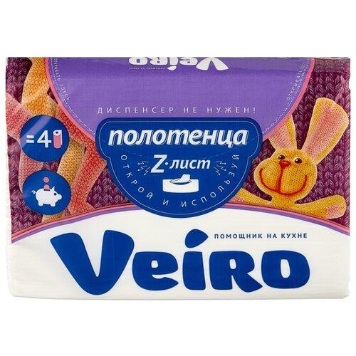 Полотенца бумажные Veiro Z-лист белые двухслойные 190 л.