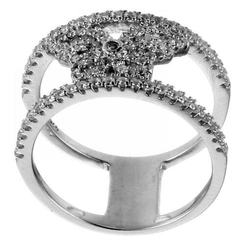 JV Кольцо с фианитами из серебра R-H0128-001-WG, размер 17 jv кольцо с фианитами из серебра r25193 r 001 wg размер 17