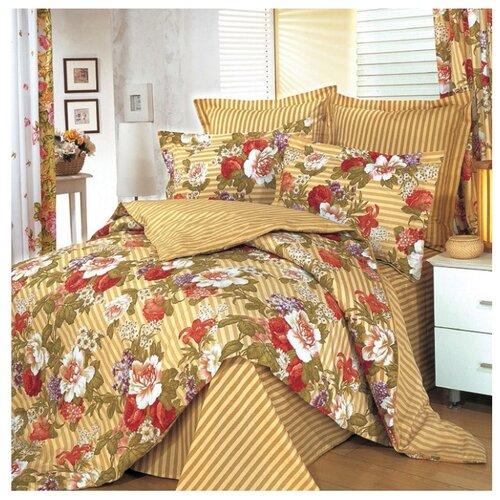 Постельное белье 2-спальное СайлиД B-7, сатин коричневый постельное белье сирень постельное белье 2 спальное кпб сайлид