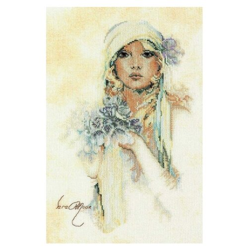 Купить Lanarte Набор для вышивания Леди с сиреневым цветком 20 x 30 см (0008013-PN), Наборы для вышивания