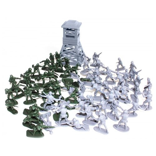 Купить Набор фигурок Биплант Рота солдат 12053, Солдатики