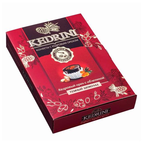 Набор конфет Kedrini Кедровый орех с облепихой, темный шоколад 80 г фото