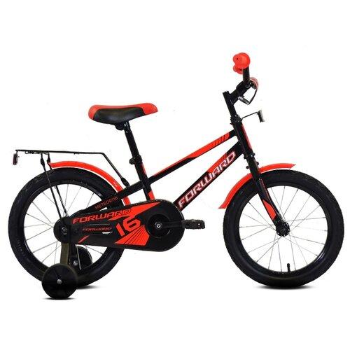 Детский велосипед FORWARD Meteor 16 (2020) черный/красный (требует финальной сборки)