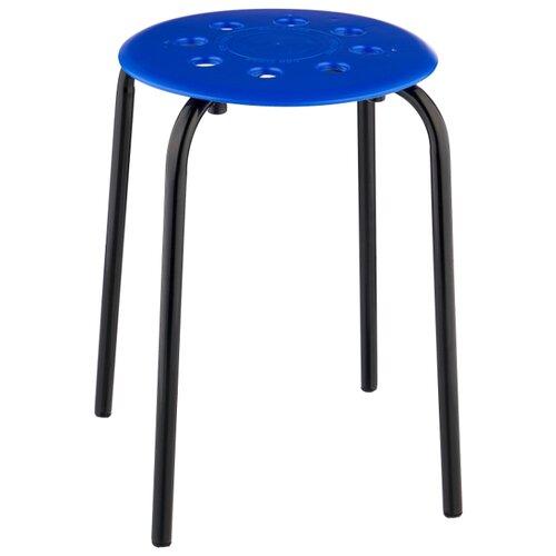 Табурет Nika с пластмассовым сиденьем (ТП01), металл, цвет: синий