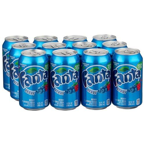 Газированный напиток Fanta Berry, США, 0.355 л, 12 шт.