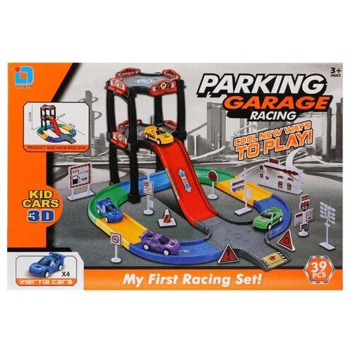Купить Jia Lin Da 235 красный/желтый/голубой/зеленый/черный, Детские парковки и гаражи