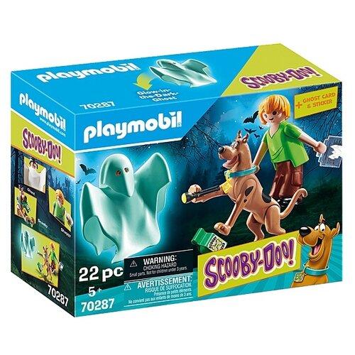 Набор с элементами конструктора Playmobil SCOOBY-DOO! 70287 Скуби и Шегги с привидениями, Конструкторы  - купить со скидкой