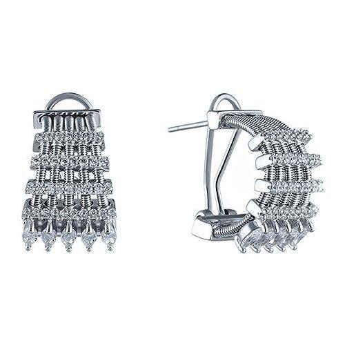 JV Серьги с фианитами из серебра DM2265E-SR-001-WG jv серьги с фианитами из серебра e26752 w2 sr 001 wg