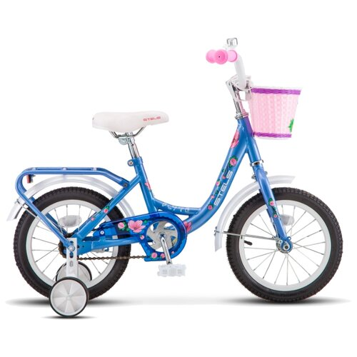 """Детский велосипед STELS Flyte Lady 14 Z011 (2019) голубой 9.5"""" (требует финальной сборки)"""
