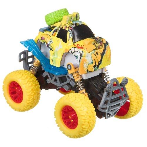 Купить Монстр-трак BONDIBON Парк техники (ВВ4498) желтый, Машинки и техника