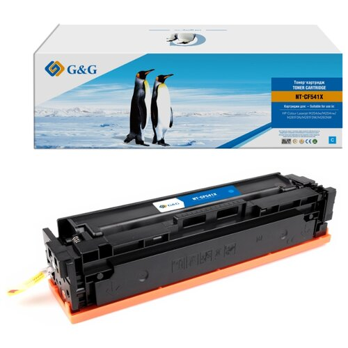 Картридж лазерный G&G NT-CF541X голубой (2500стр.) для HP CLJ M254dw/M254nw/M281FDN/M281FDW/M280NW