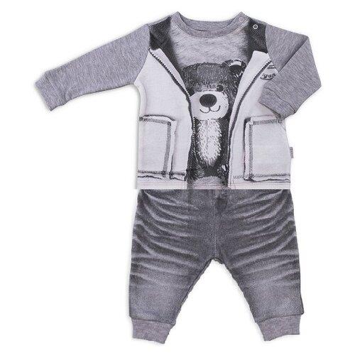 Купить Комплект одежды Папитто размер 68, серый, Комплекты