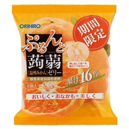 Желе Orihiro из конняку Мандарин 0%, 6 шт.