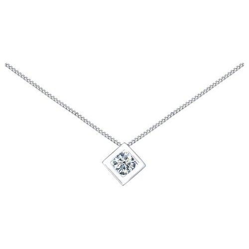 SOKOLOV Колье из серебра с фианитом 94070056, 40 см, 2.22 г