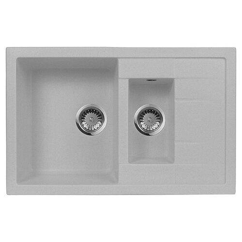 цена на Врезная кухонная мойка 78 см А-Гранит M-21K M-21K(310) серый
