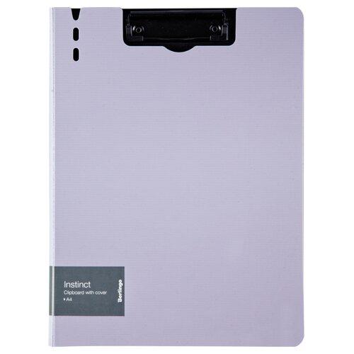 Купить Berlingo Папка-планшет с зажимом Instinct A4, полифом лаванда/черный, Файлы и папки