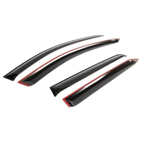 Дефлектор окон Voron Glass Samurai DEF00269 черный spoiler bonnet azard vaz 2105 voron glass with еврокрепежом mukh0022