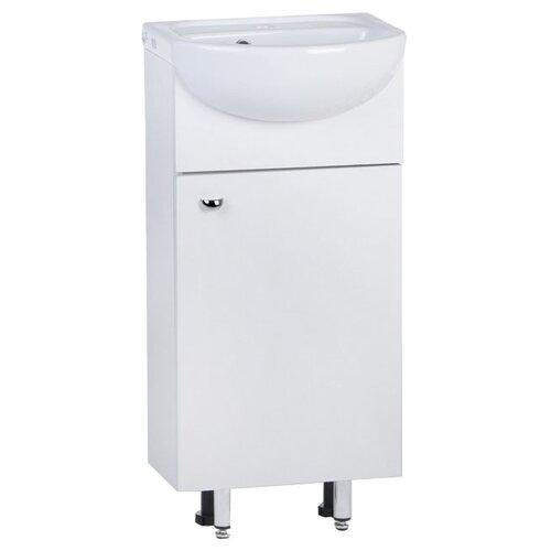 Фото - Тумба для ванной комнаты с раковиной Alterna Вега 45, ШхГхВ: 41.2х28х82 см, цвет: белый тумба для ванной комнаты с раковиной am pm like напольная шхгхв 80х45х85 см цвет белый глянец