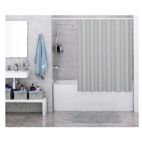 Штора для ванной WasserKRAFT Oder SC-30501 180x200 серый шторка для ванной wasserkraft oder 180х200 см кольцав комплекте sc 30101