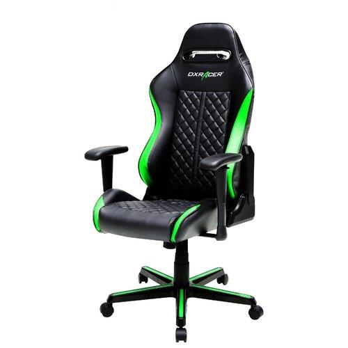 Компьютерное кресло DXRacer Drifting OH/DH73 игровое, обивка: искусственная кожа, цвет: черный/зеленый игровое компьютерное кресло oh dj188 n