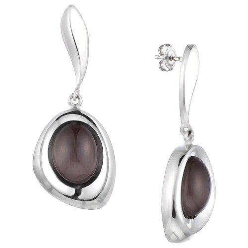 JV Серьги со стеклом из серебра SE0436-US-002-WG jv кольцо с ювелирным стеклом из серебра b3198 us 011 wg размер 17 5