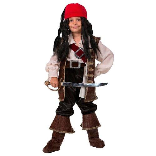 Купить Костюм Батик Капитан Джек Воробей (443), коричневый/черный, размер 158, Карнавальные костюмы