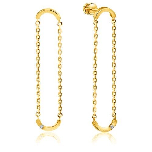 Бронницкий Ювелир Серьги из желтого золота 56319561000 бронницкий ювелир серьги из желтого золота ю1e27689r