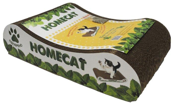 Когтеточка Homecat Мятная волна малая 41 х 24 х 10 см