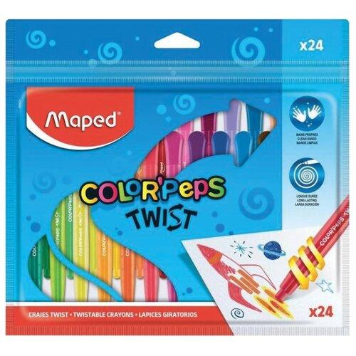 Купить Maped Мелки восковые Color'peps Twist (860612) 24 шт, Пастель и мелки