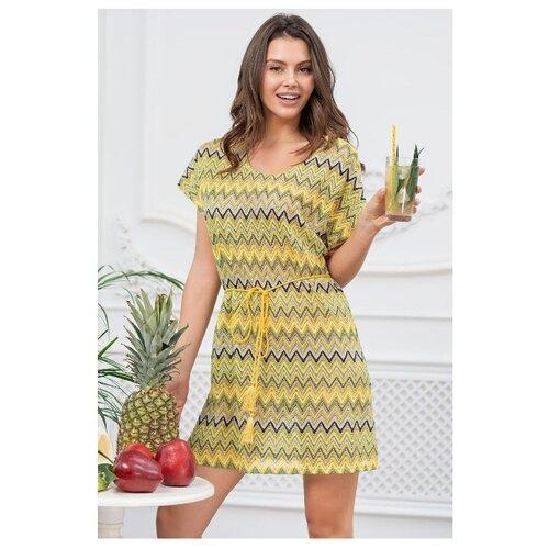 цена Пляжная туника Mia-Mia размер 42 желтый онлайн в 2017 году