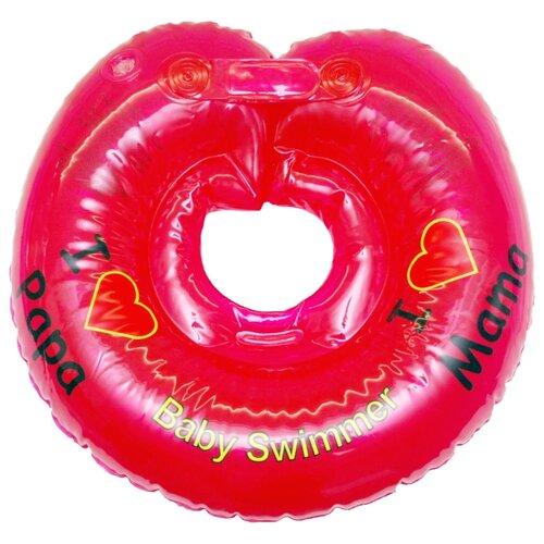 Круг на шею Baby Swimmer 3m+ (6-36 кг) Я люблю красный roma tearne the swimmer