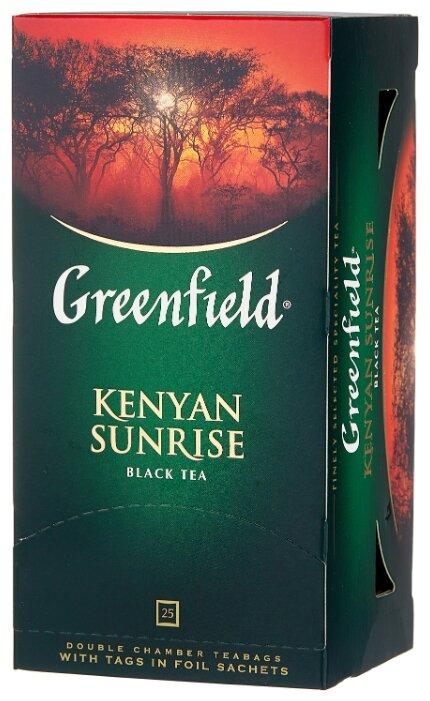 """Чай Greenfield """"Kenyan Sunrise"""", черный, 25 пакетиков"""
