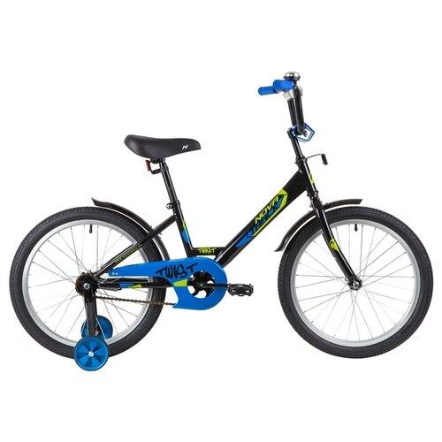 Фото - Детский велосипед Novatrack Twist 20 (2020) черный (требует финальной сборки) детский велосипед novatrack twist 20 2020 зеленый требует финальной сборки