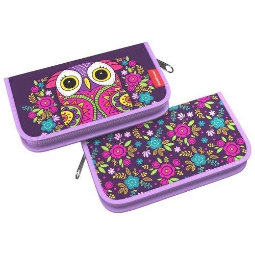 Купить ErichKrause Пенал-книжка Flower Owl (46257) фиолетовый, Пеналы