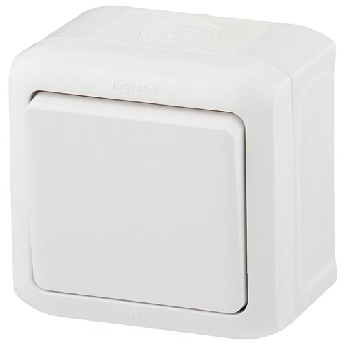 Выключатель 1-полюсный Legrand Quteo 782300,10А, белый