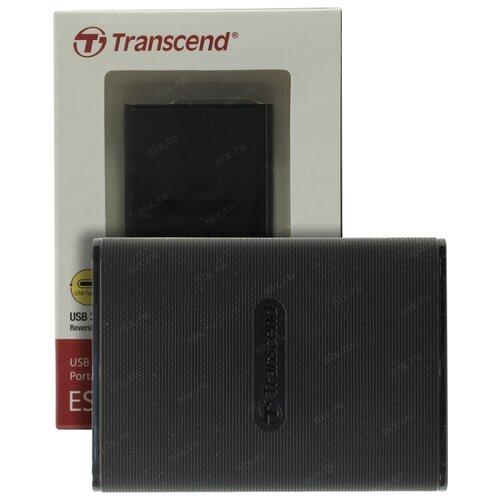 Фото - Внешний твердотельный накопитель External SSD Transcend 480Gb, USB 3.1 Gen 1, Type C размером с пластиковую карту В комплекте с двумя кабелями Type C-A и Type C-C 1920gb внешний ssd накопитель usb3 1 type c hikvision t100i розово золотой 450mb s 3г гар