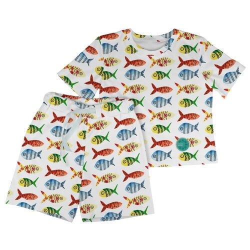 Купить Пижама Marengo Textile размер 140, белый, Домашняя одежда