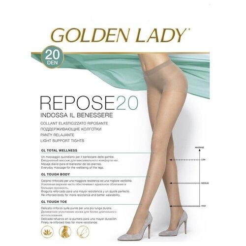 Колготки Golden Lady Repose 20 den, размер 5-XL, playa (бежевый) колготки golden lady repose 40 den размер 5 xl natural бежевый