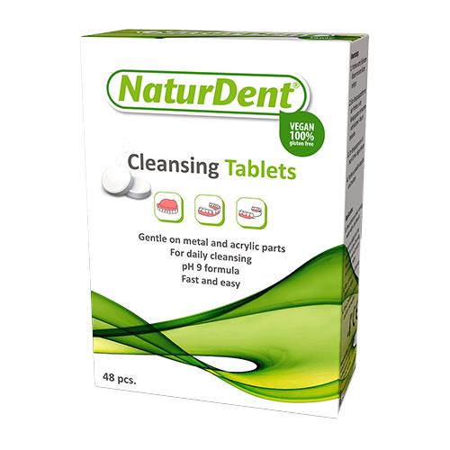 NaturDent очищающие таблетки, 48 шт.