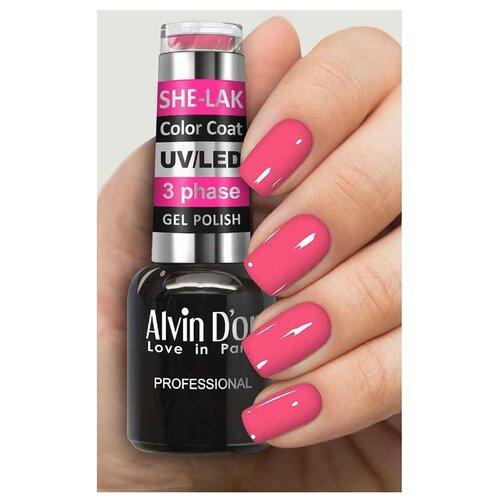 Фото - Гель-лак для ногтей Alvin D'or She-Lak Color Coat, 8 мл, оттенок 3536 гель лак для ногтей cosmoprofi color coat 15 мл оттенок 027