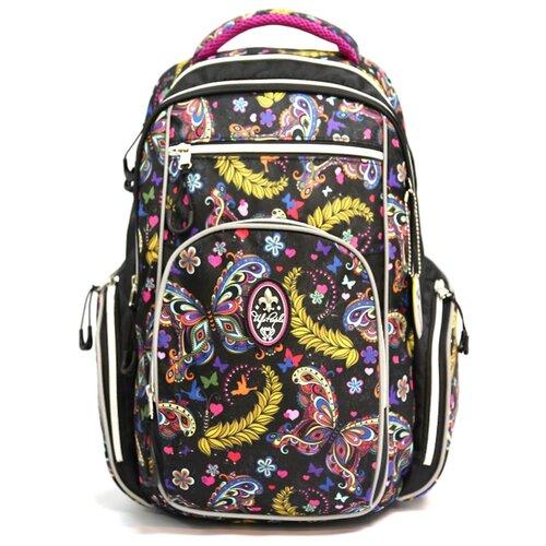 ufo people рюкзак школьный цвет черный 7227 Ufo People Рюкзак 7669, черный/желтый/розовый