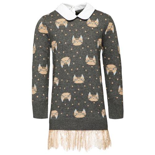 Платье Gulliver размер 98, серый