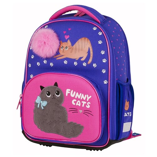 Купить Berlingo ранец Profi Funny Cats, розовый/синий, Рюкзаки, ранцы