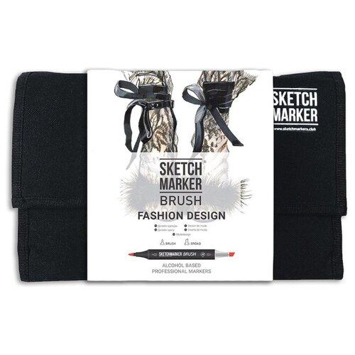 SketchMarker Набор маркеров Brush Fashion design, 24 шт, Фломастеры и маркеры  - купить со скидкой