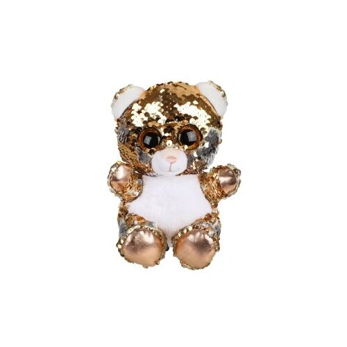 цена на Мягкая игрушка Fluffy Family Мишка из пайеток 15 см